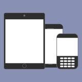 De digitale tendens van de apparatengeneratie respectievelijk, ontwerp voor Webpresentatie in pictogramreeks Royalty-vrije Stock Fotografie