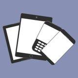 De digitale tendens van de apparatengeneratie respectievelijk, ontwerp voor Webpresentatie in pictogramreeks Royalty-vrije Stock Foto