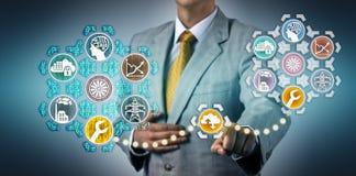 De Digitale Tweeling van managersimulating maintenance via stock afbeeldingen