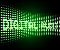 De digitale van het het Netwerkonderzoek van Controlecyber 3d Illustratie stock illustratie
