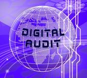 De digitale van het het Netwerkonderzoek van Controlecyber 3d Illustratie royalty-vrije illustratie