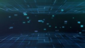 De digitale van de de technologiemotie van de netwetenschap grafische achtergrond met netwerkservice stock illustratie