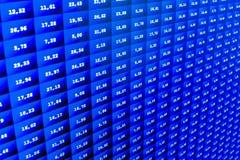 De digitale vertoningssamenvatting van de voorraadmarktprijs Moderne virtuele technologie, illustratie binaire code op abstracte  Stock Foto