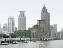 De dijk in Shanghai Stock Afbeelding