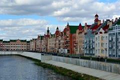 De dijk van Brugge in Yoshkar-Ola Stock Afbeelding