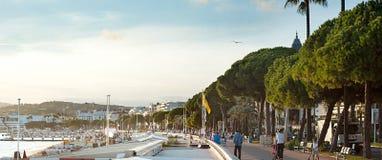 De dijk van Cannes Royalty-vrije Stock Foto's