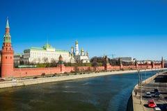 De dijk van het Kremlin Stock Fotografie