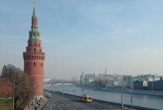 De dijk van het Kremlin Stock Afbeelding
