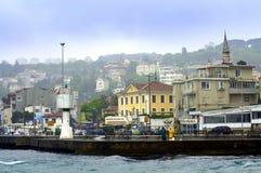 De dijk van Istanboel Bosphorus Stock Fotografie