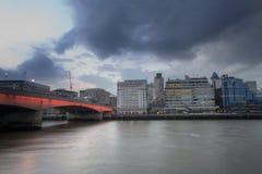 De dijk van Londen Stock Fotografie