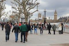 De Dijk van Londen Stock Foto