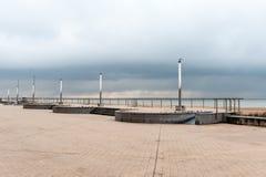 De dijk van Oostende Stock Fotografie