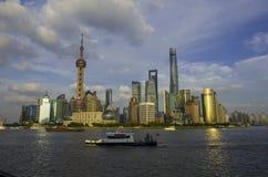De Dijk van Shanghai Stock Afbeelding