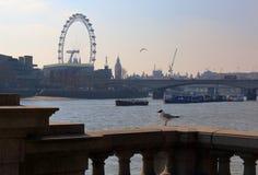 De dijk van Theems in de lente, Londen Royalty-vrije Stock Foto