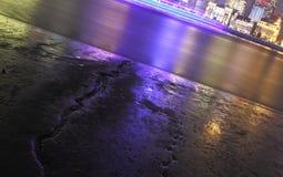 De Dijknacht van Shanghai Royalty-vrije Stock Afbeeldingen