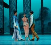 In de dilemma-tweede handeling van de gebeurtenissen van dans drama-Shawan van het verleden Stock Foto