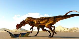 De Dilophosaurusdinosaurussen vinden Eurohinosaurus vector illustratie