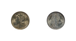 De dime van het de staatskwik van de munt royalty-vrije stock afbeeldingen