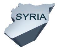 De Dimensionale Kaart van Syrië Stock Afbeelding