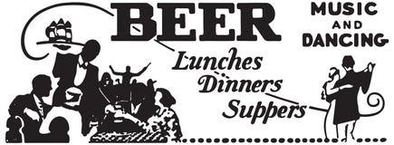 De Dinersavondmaal van bierlunchen royalty-vrije stock afbeeldingen