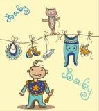 De dingen van de babyjongen Stock Illustratie