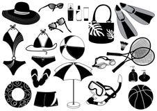 De dingen van het strand Royalty-vrije Illustratie