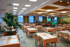 De dinning zaal van het restaurant Stock Fotografie
