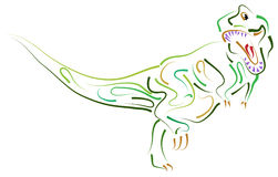 De dinosaurus royalty-vrije illustratie