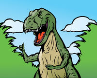 De dinosaurus beduimelt omhoog vector illustratie