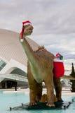 De Dinosaurus van de kerstman Royalty-vrije Stock Foto