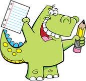 De Dinosaurus van de student Stock Afbeelding