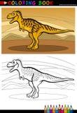 De dinosaurus van Tarbosaurus voor het kleuren van boek Stock Afbeelding