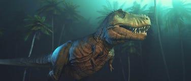 De dinosaurussen van Dino met grote hoektanden royalty-vrije illustratie