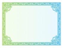 De diploma's van de malplaatjegrens, certificaat Royalty-vrije Stock Foto