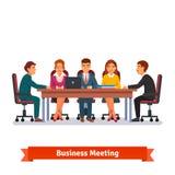 De directeuren schepen commerciële vergadering in brainstorming stock illustratie