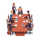 De directeuren schepen vergadering in vector illustratie