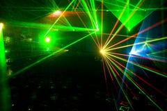 De disco en de Laser tonen Royalty-vrije Stock Foto