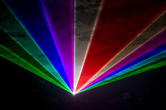 De disco en de laser tonen Stock Foto