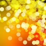 De disco steekt achtergrond aan - sinaasappel & geel Royalty-vrije Illustratie