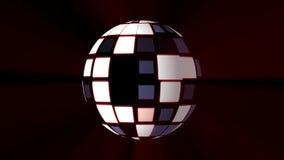 De discobal steekt achtergrond aan - het Nieuwe universele kleurrijke blije beeld van de de vakantievoorraad van de dansmuziek royalty-vrije stock afbeelding