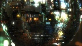 De discobal van de spiegel Het dansen of partijconcepten het 3d teruggeven Stock Afbeelding