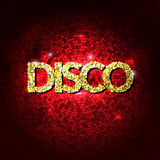 De discopartij steekt gouden achtergrond aan Hete dansachtergrond De vector van de dansvloer De vloer van de discodans Abstracte  stock illustratie
