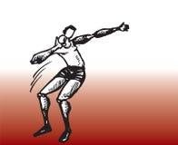De discus werpt speler stock illustratie