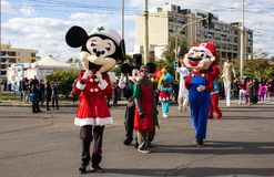 De Disney-mascottes Stock Afbeelding