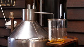 De distillatie van de lavendeletherische olie