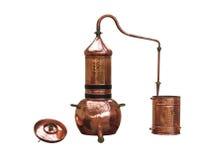 De distilleerderij van de alcohol stock foto's
