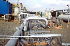 De distributiefaciliteit van het gas stock afbeeldingen