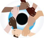 De diversiteit van het groepswerk royalty-vrije illustratie