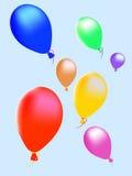 De diversos colores, bola de aire stock de ilustración