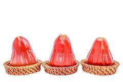 De djamboevrucht isoleert witte achtergrond met het knippen van weg Royalty-vrije Stock Fotografie